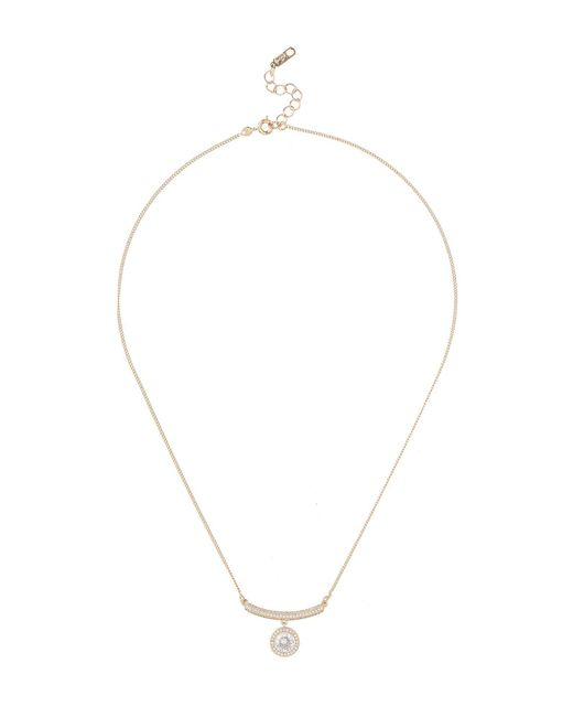 Mikey | Metallic Cruved Pin Cubic Drop Pendant | Lyst