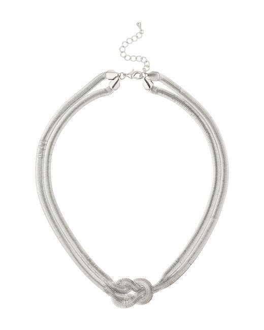 Mikey | Metallic Twsited Lock Necklace | Lyst