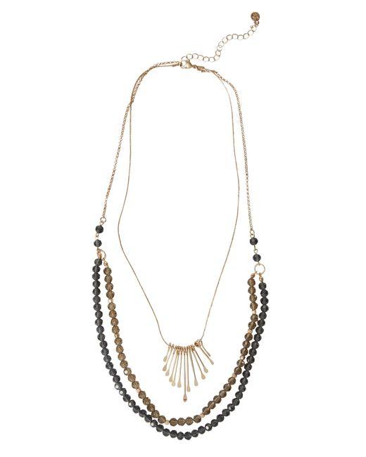 White Stuff | Metallic Triple Layer Beaded Necklace | Lyst