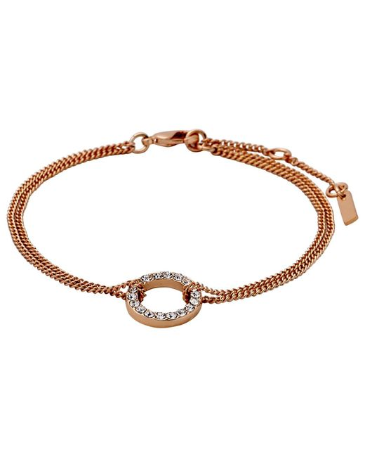 Pilgrim | Metallic Rose Gold Beautiful & Simple Bracelet | Lyst