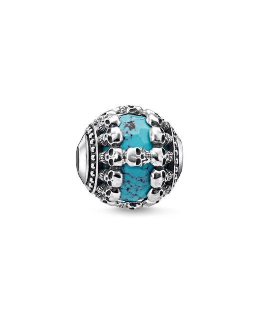 Thomas Sabo | Blue Skulls Turquoise Karma Bead | Lyst