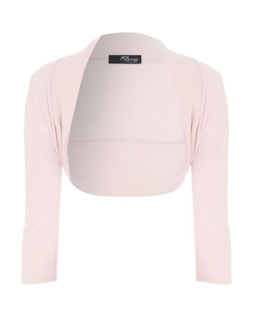Jane Norman - Pink 34 Length Sleeve Shrug - Lyst