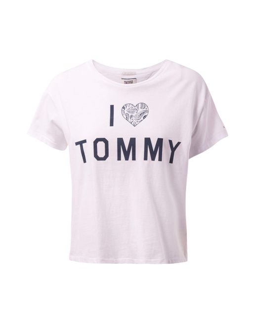 Tommy Hilfiger | White Love Tommy Top | Lyst