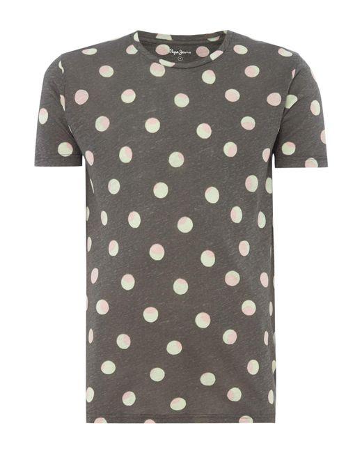 Pepe Jeans - Gray Men's Aldgate T-shirt for Men - Lyst