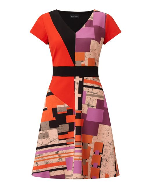 James Lakeland | Red Geometric Print Dress | Lyst