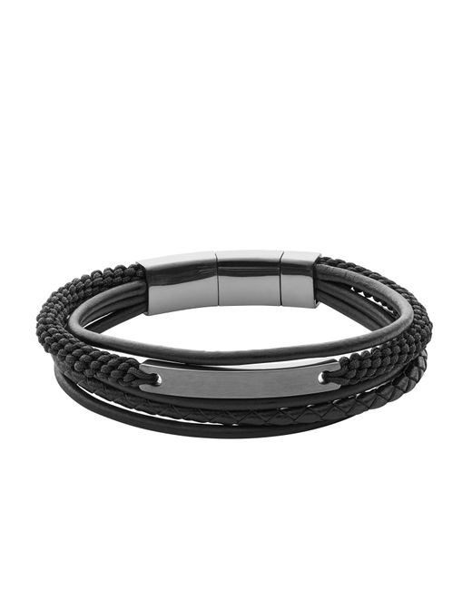 Fossil - Black Jf02378793 Mens Bracelet for Men - Lyst