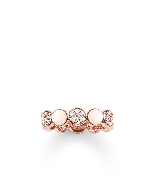 Thomas Sabo - Metallic Sparkling Circles Pave Rose Gold Ring - Lyst