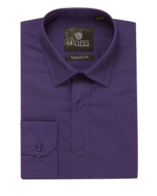 Skopes - Purple Easy Care Formal Tailored Shirts for Men - Lyst