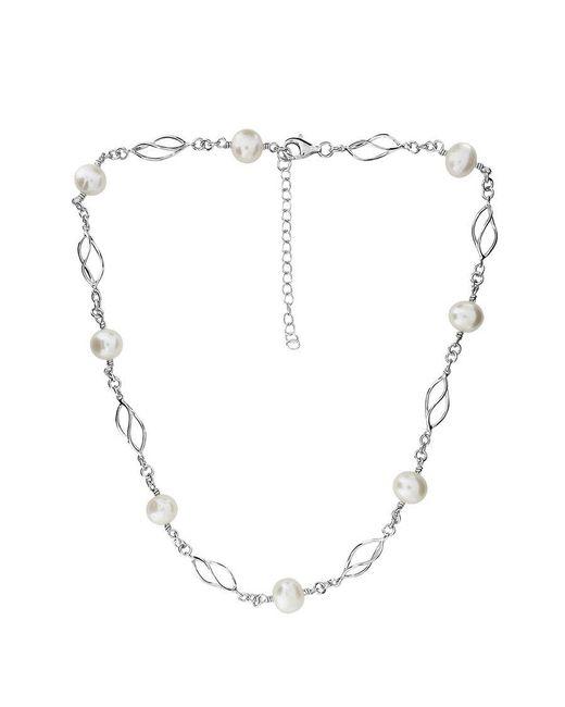 Azendi - Metallic Silver & Freshwater Pearl Necklace - Lyst