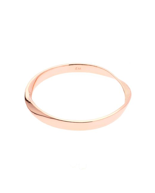Karen Millen | Metallic K8982403 Textured Twist Narrow Bangle | Lyst