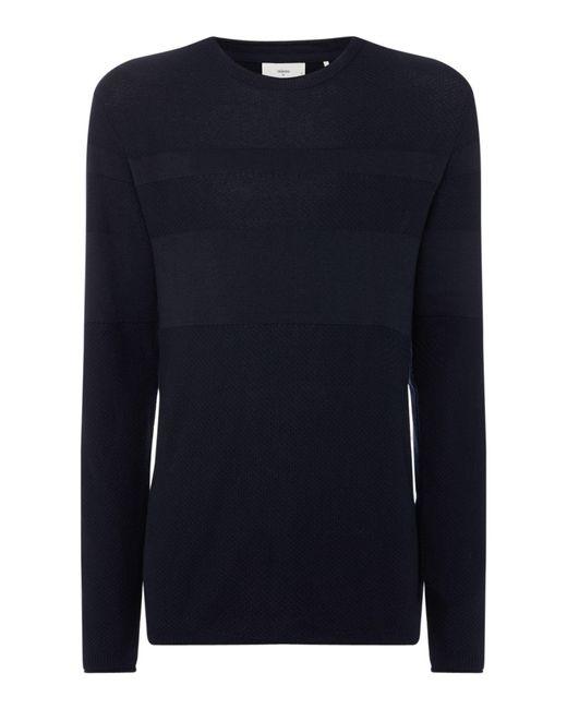 Minimum - Blue Men's Long Sleeved Knitted Pullover for Men - Lyst