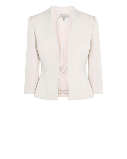 Coast | Pink Deandra Short Peplum Jacket | Lyst