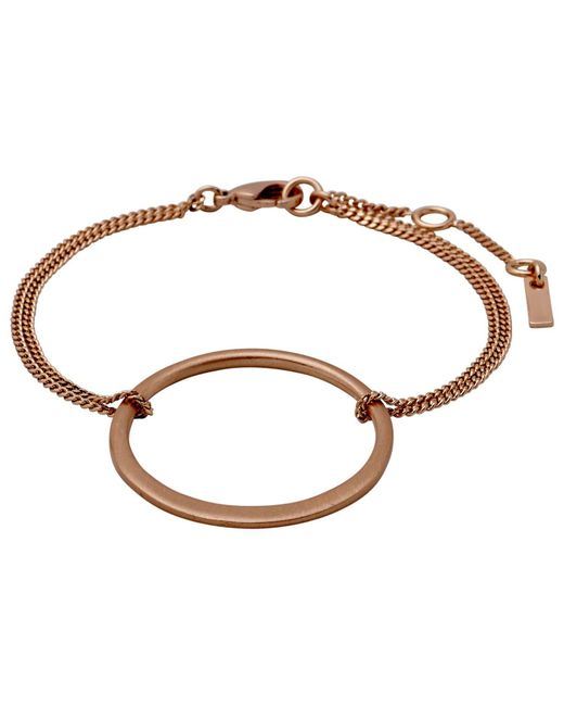 Pilgrim - Metallic Iona Rose Gold Plated Bracelet - Lyst