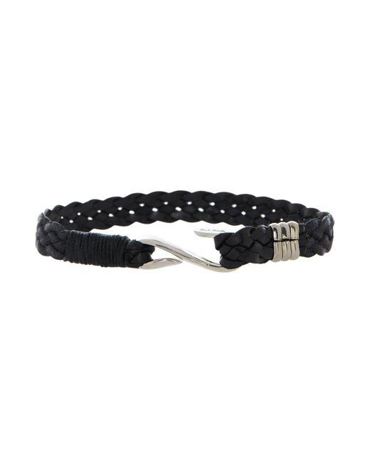 Paul Smith | Black 5 Strand S Hook Plait Bracelet | Lyst