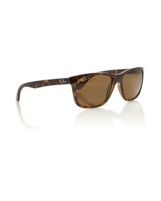 Ray-Ban - Brown Unisex Rb4181 Light Havana Square Sunglasses for Men - Lyst