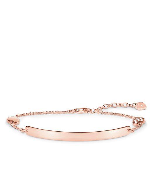 Thomas Sabo - Metallic Love Bridge Diamond Rose Gold Bracelet - Lyst