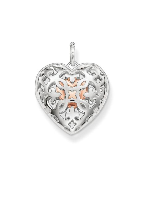 Thomas Sabo - Metallic Open Your Heart Locket With Small Heart Inside - Lyst
