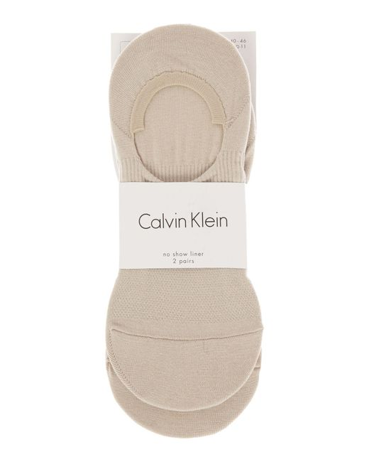 CALVIN KLEIN 205W39NYC - Natural 2 Pack No Show Trainer Liner - Lyst
