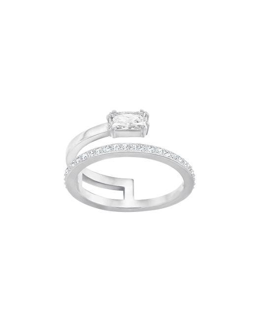 Swarovski | Metallic Gray Crystal Ring | Lyst
