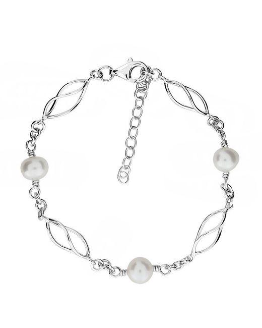 Azendi - Metallic Silver & Freshwater Pearl Bracelet - Lyst