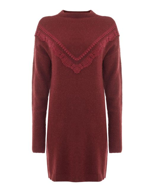 Vero Moda | Red Funnel Neck Dress | Lyst