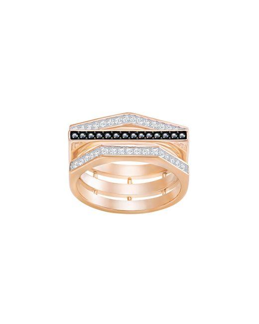 Swarovski | Metallic Geometry Ring | Lyst