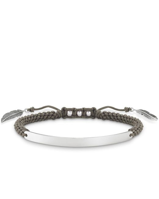 Thomas Sabo | Metallic Love Bridge Feather Macramé Bracelet | Lyst