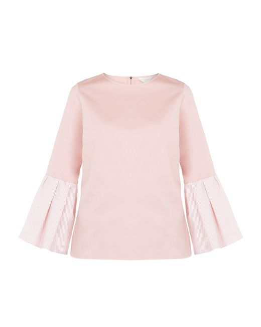 Ted Baker - Pink Striped Bell Sleeve Top - Lyst