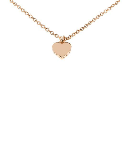 Ted Baker - White Hara Gold Tiny Heart Pendant - Lyst