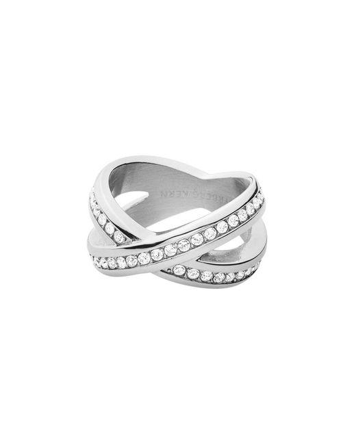 Dyrberg/Kern - Metallic Dk337981 Nagyz Ii Crystal Rings - Lyst