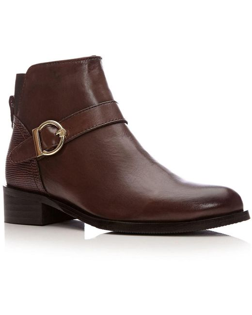 Moda In Pelle Brown Keera Medium Smart Short Boots