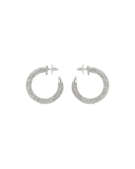 Mikey - Metallic Crystal Embed Half Crescent Earring - Lyst