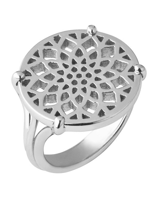 Links of London - Metallic Timeless Sterling Silver Coin Ring- Size P - Lyst