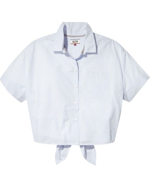 Tommy Hilfiger - Blue Tommy Jeans Summer Bow Shirt - Lyst