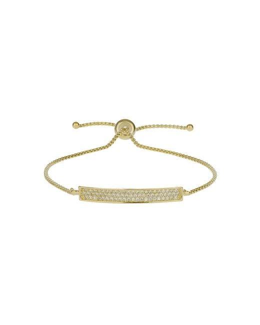 Mikey - Metallic Cubic Band Tie Up Bracelet - Lyst