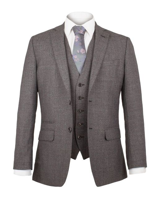 Alexandre Of England - Gray Milner Jaspe Plain Suit Jacket for Men - Lyst