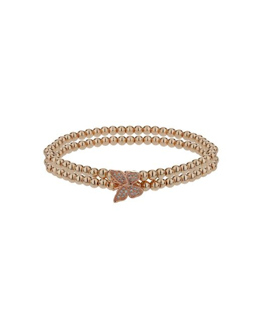 Mikey - Metallic Single Butterfly Twin Line Bracelet - Lyst