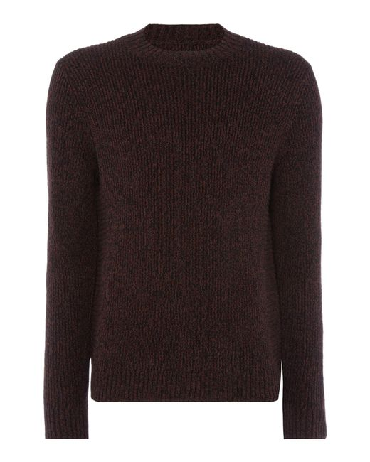 Label Lab | Red Men's Braun Twisted Crew Neck Jumper for Men | Lyst