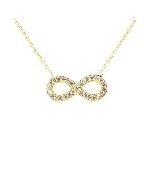Latelita London | Metallic Sparkling Eternity Necklace Gold | Lyst