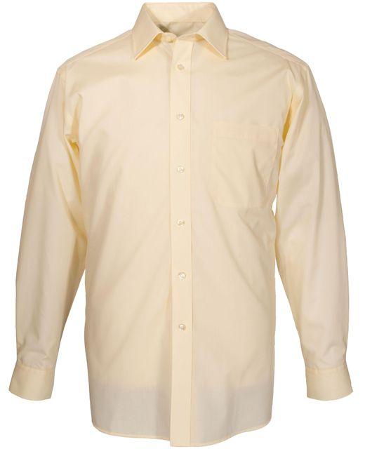 Double Two - Yellow Plain Poplin Long Sleeve Shirt for Men - Lyst