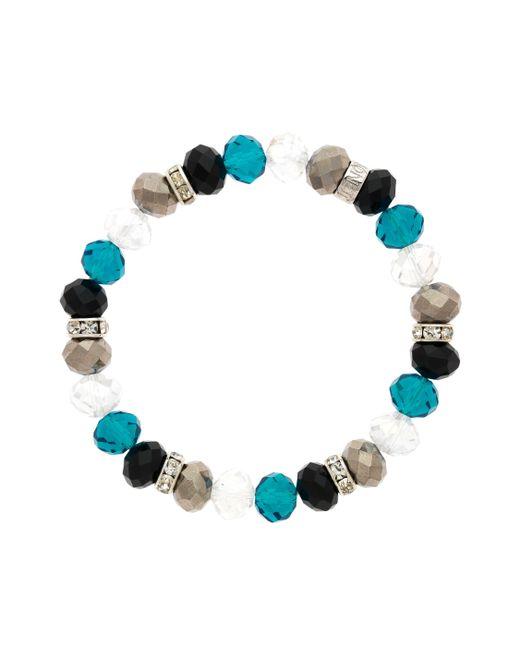 Monet - Blue Crystal Bead Zircon Bracelet - Lyst
