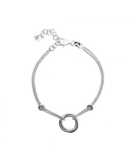 Azendi | Metallic Silver Love-knot Bracelet | Lyst