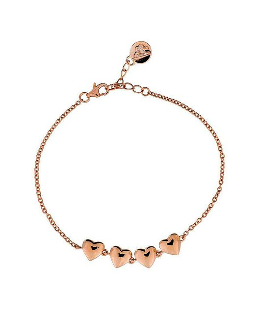 Azendi | Metallic Linked Hearts Bracelet | Lyst