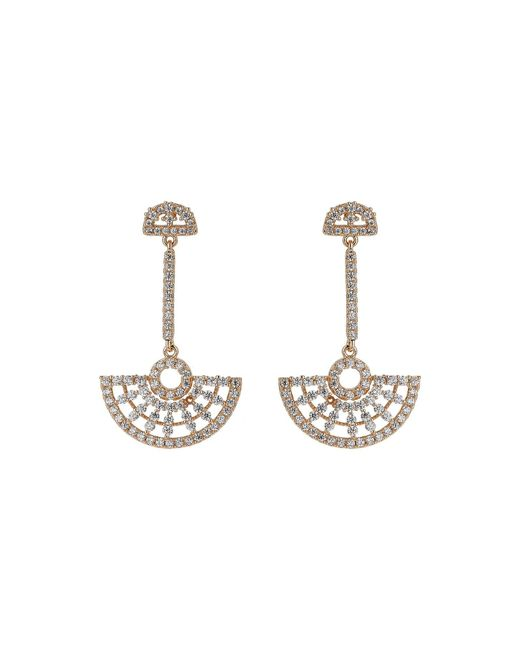Mikey - Metallic Half Crescent Hanging Cubic Earring - Lyst