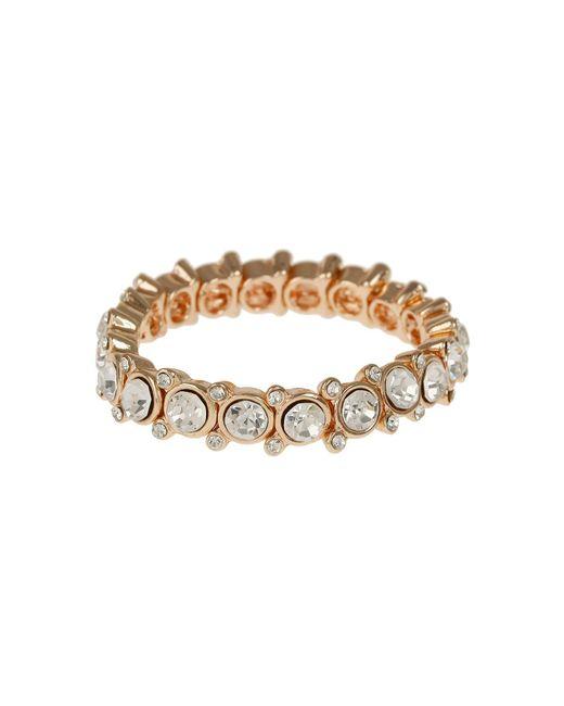 Mikey - Metallic Round Cased Cubic Stones Bracelet - Lyst