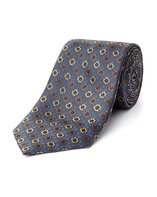 Bäumler - Blue Marko Motif Silk Tie for Men - Lyst