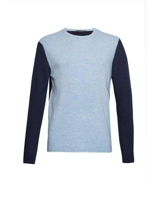 French Connection | Blue Men's Lambswool Multi Colour Jumper for Men | Lyst