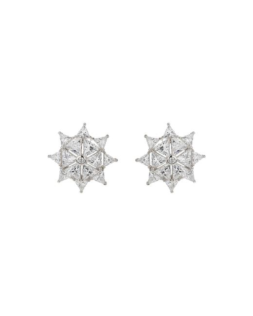 Mikey - White Star Filigree Cubic Cross Stud Earring - Lyst