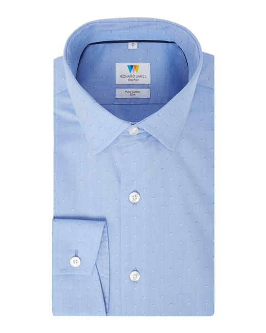 Richard James - Blue Diamond Dobby Slim Fit Shirt for Men - Lyst