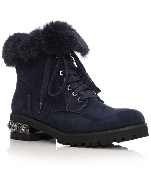 Moda In Pelle Blue Eadra Low Casual Short Boots
